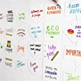 mcSquares Stickies Hearts, Stars, Arrows, Bubbles, Circles, Squares Reusable Whiteboard Stickers - 24 Pack - Post Fun Notes, Its Eco-Friendly! Cute Whiteboard Shapes - for Home, Office, Classroom