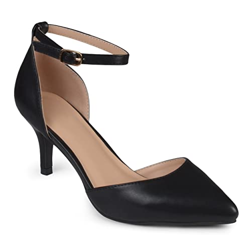 d06269af666 Journee Collection Women's Matte Ankle Strap Pumps