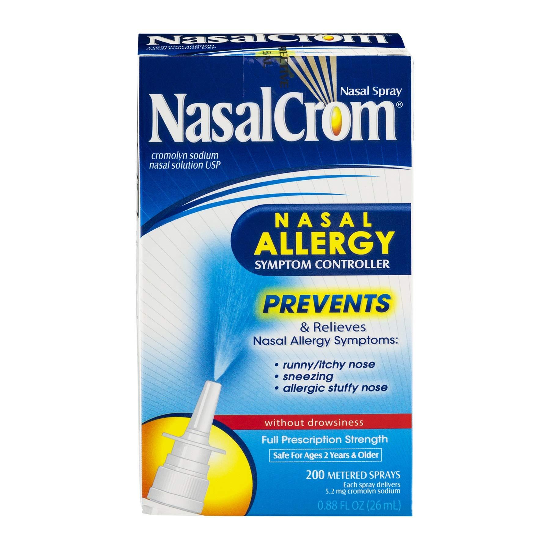 NasalCrom Nasal Allergy Symptom Controller Spray - 0.88 oz, Pack of 4 by Nasal Crom