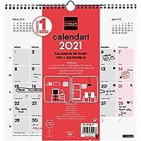 Finocam - Calendario Neutro de pared 2021 Escribir Catalán