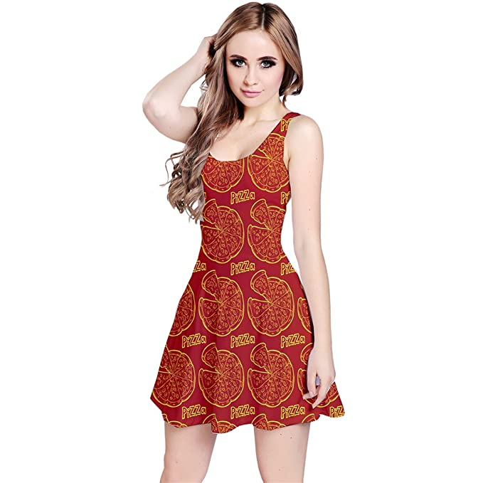 CowCow Womens Red Pizza Design Sleeveless Skater Dress at Amazon ... 758d1efe68
