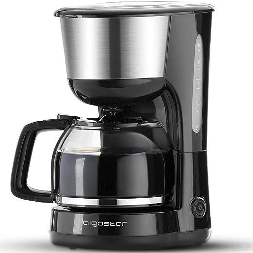 Aigostar Chocolate 30HIK-Máquina de café, 1000W cafetera de filtro ...