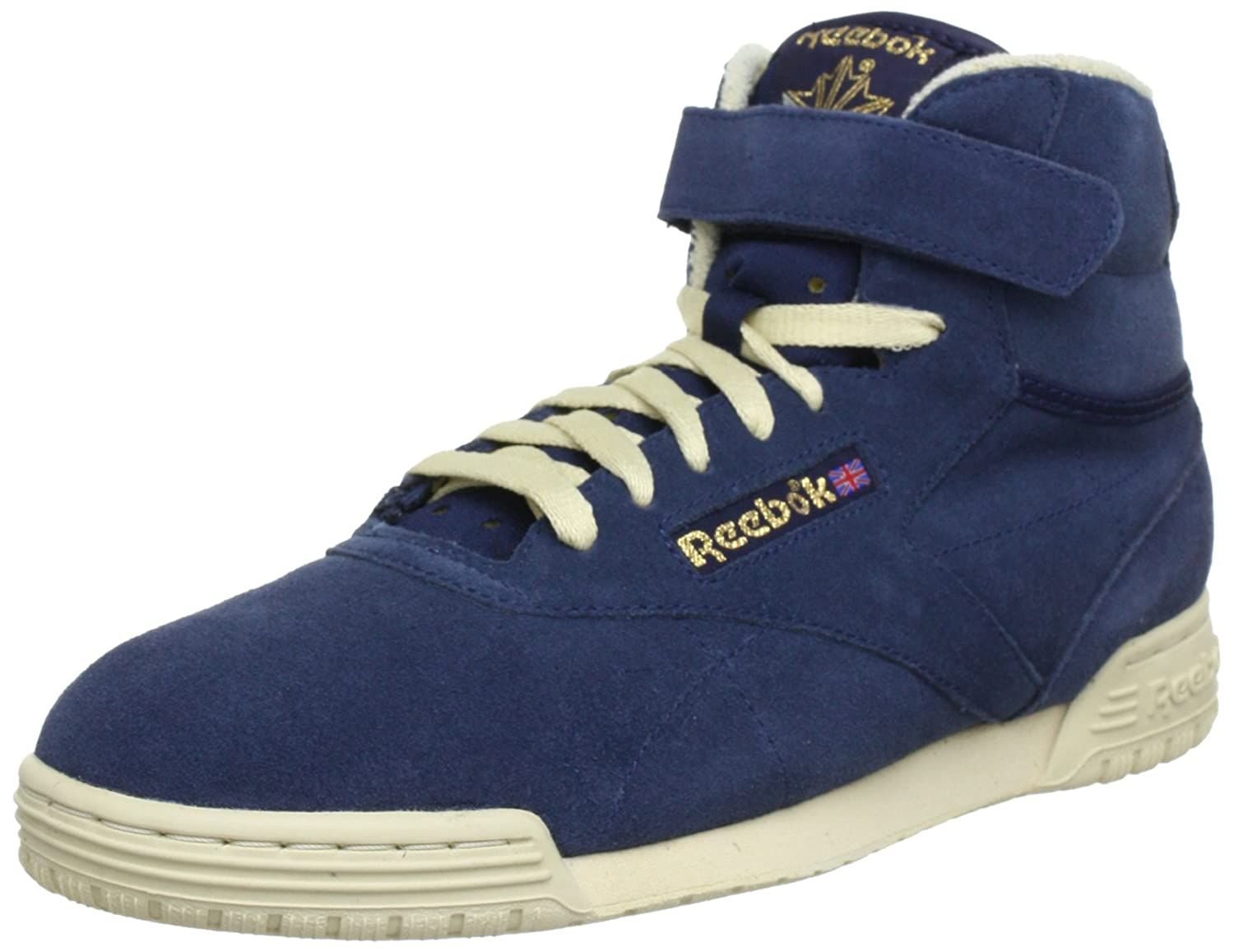 Reebok EX-O-FIT CLEAN HI VINTAGE V45039 Herren Sneaker  425 EU|Blau (Athletic Navy/Bone/ Reebok Brass)