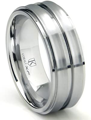 Stainless Steel Matte Finished Cut-out Trident Half-Round Band Ring