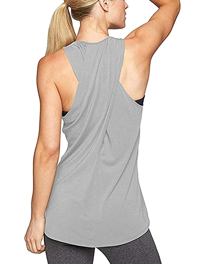 Aibrou Camiseta Mujer Deporte sin Mangas para Yoga Fitness y Deportes  AMB00089 d183beaaa11d