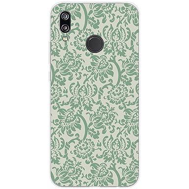 Green Floral Wallpaper Design Hard Case For Huawei P8 Lite 2017