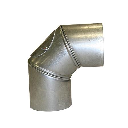Kamino Flam 90 Elbow Pipe With Door ø 150mm Hot Dip Aluminised