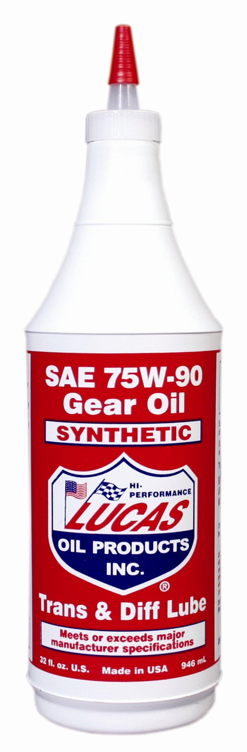 Lucas Oil 10047-PK12 75W90 Synthetic Gear Oil - Pack of 12 by Lucas Oil