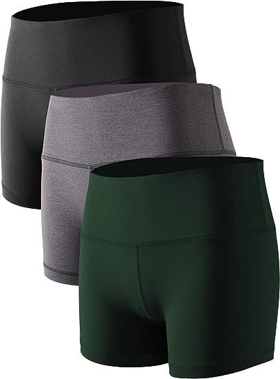 Cadmus con bolsillo Pantalones cortos de compresi/ón para mujer cintura alta