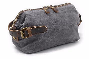 Everdoss Mens Canvas Toiletry Bag Vintage Wash Bags Travel Organiser ... 367d6bc31b
