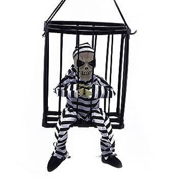 M&G House M & G casa Halloween Sensor de Movimiento para Colgar Jaula Animados Cárcel Preso