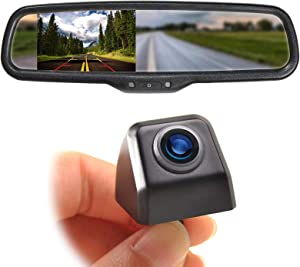 EWAY Mini Tailgate Mounting Backup Camera & 4.3'' Rear View Mirror Monitor Kit for Ford F-150 2004-14 F250/350 08-15 Waterproof Night Vision for Car RV Pickup Truck Trailer Van Universal