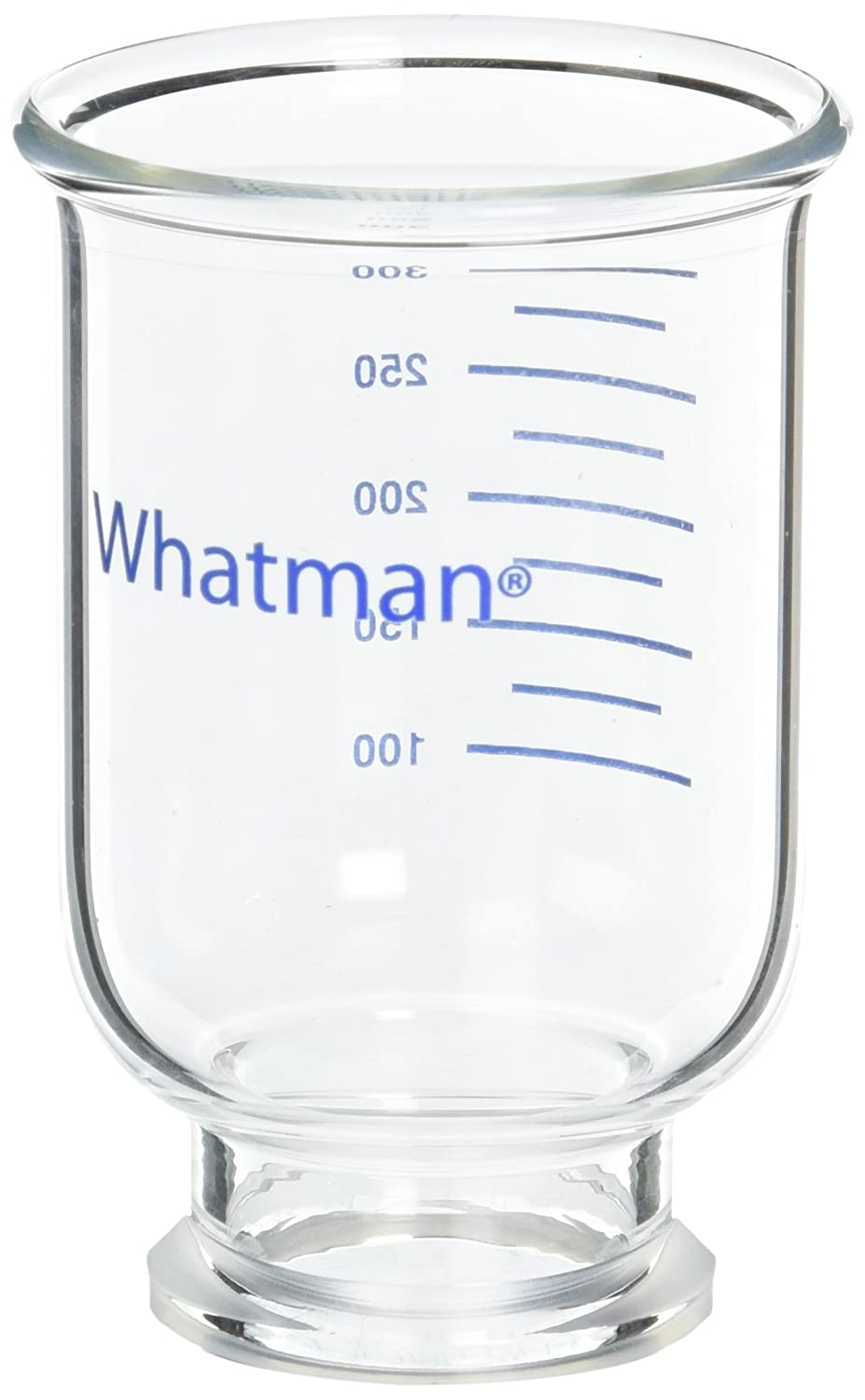300mL Funnel Capacity GE Whatman 1961-054 Glass Vacuum Membrane Filter Holder with Glass Frit Filter Support and Rubber Stopper Connection Fits 4.7 Membrane Filters