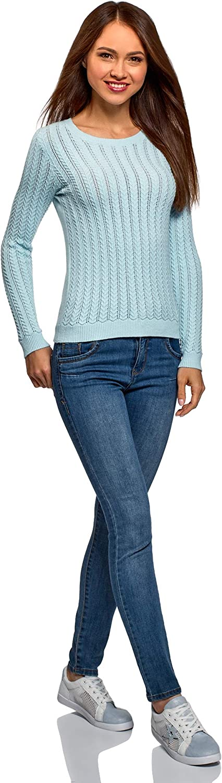 oodji Ultra Femme Pull Tricot /à Chevrons