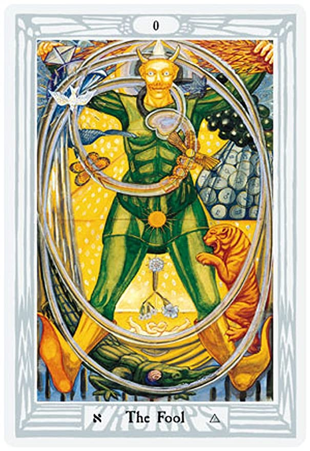 Baraja Thoth Tarot por Aleister Crowley, Mazo de 78 cartas - Deluxe