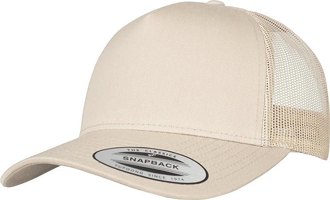 c93b63e4f Flexfit 5-Panel Retro Trucker Snapback Cap - Khaki Beige - One Size ...