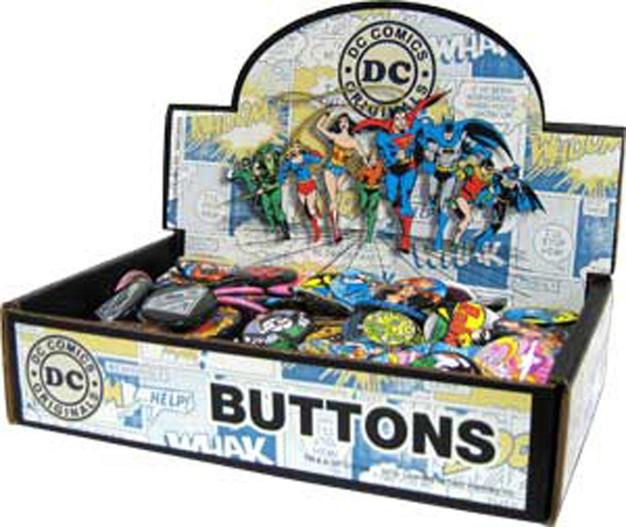 Button set DC Comics Originals Countertop Display Box Assorted Loose Buttons 144-Piece