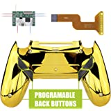 eXtremeRate Dawn Programable Remap Kit for PS4 Controller with Mod Chip & Redesigned Back Shell & 4 Back Buttons - Compatible with JDM-040/050/055 - Chrome Gold