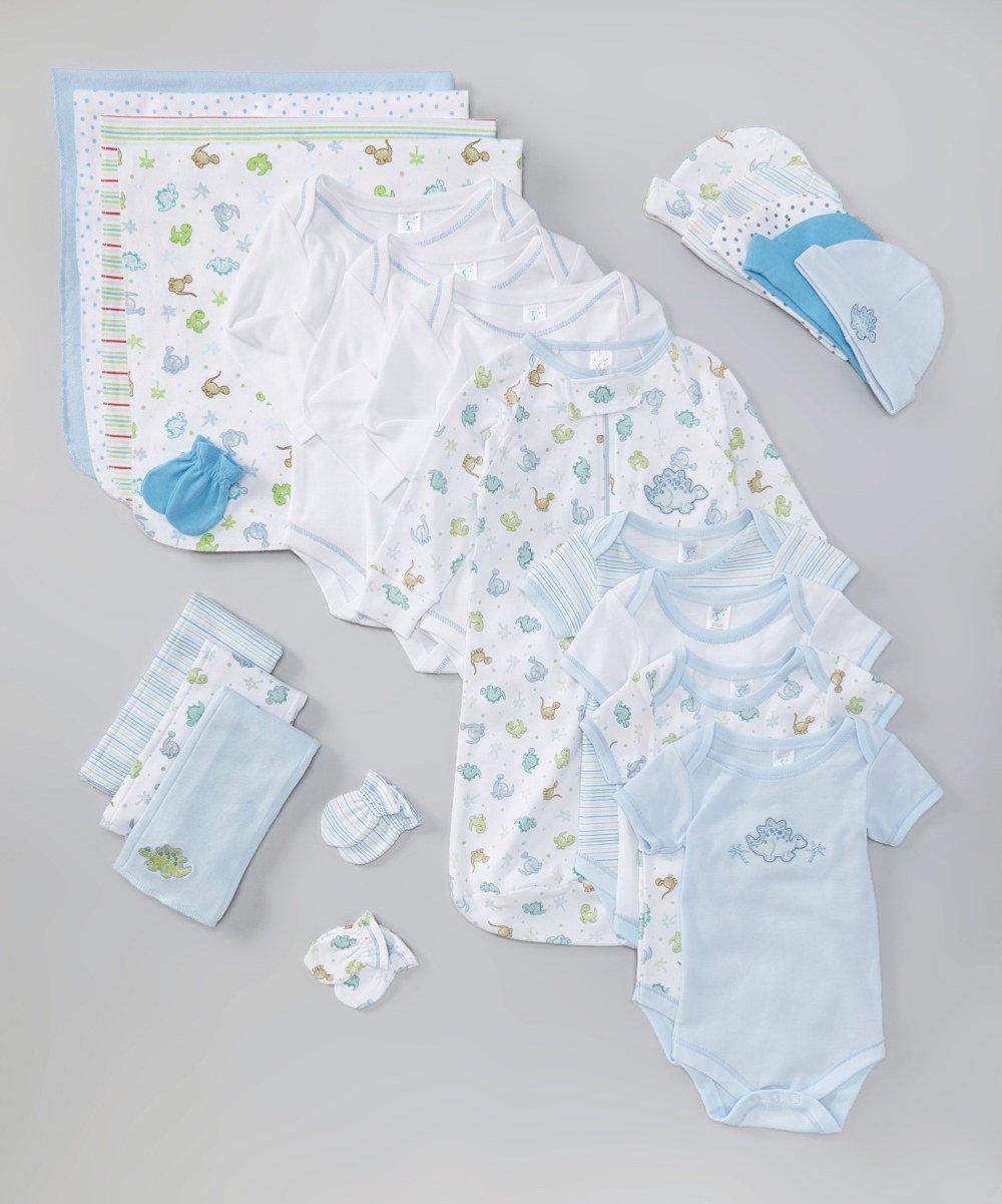 SpaSilk 23-Piece Essential Newborn Baby Layette Set, Blue Boy, 0-6 Months