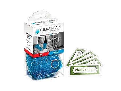 THERAPEARL cuello Wrap caliente frío terapia bolas de Gel Calor Hielo Congelador Microondas con toallitas antibacterias