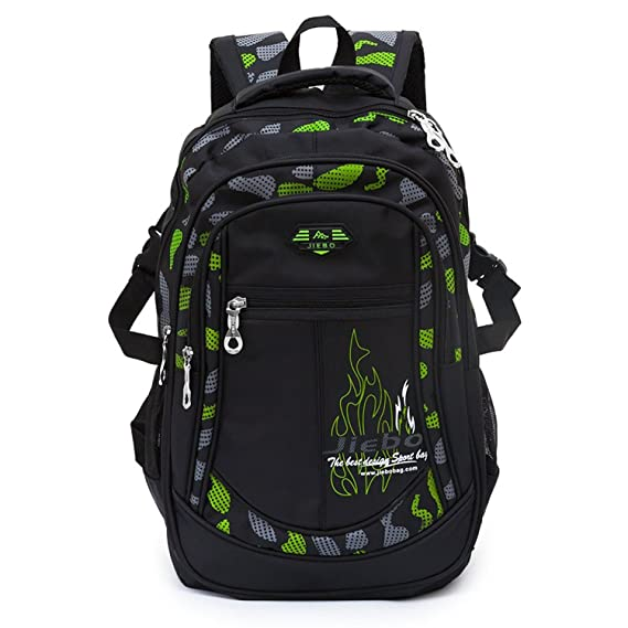 Mochila niños mochila para chicos Mochila escolares niño mochilas escolares bolsos de escuela para niños (1-Verde): Amazon.es: Equipaje