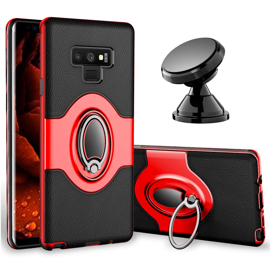 Rose Gold Dashboard Magnetic Phone Car Mount Samsung Galaxy Note 9 Case emobilepress 044 eSamcore Ring Holder Kickstand Cases