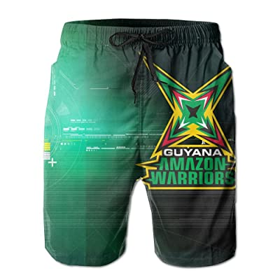 Nasat Guyana Amazon Warriors Mens Shorts Loose Summer Swimming Trunks Running Swimming and Surfing