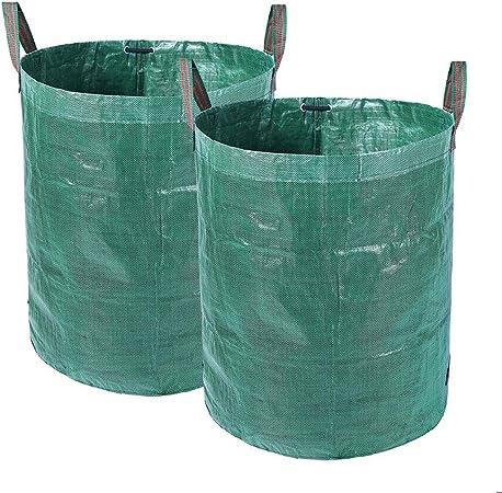 SH-ljsn Bolsas de residuos de jardín, Cubo de Hierba de jardín, Almacenamiento de Flores, Cubo ordenado (2 x 272L H76 cm, D67 cm): Amazon.es: Hogar