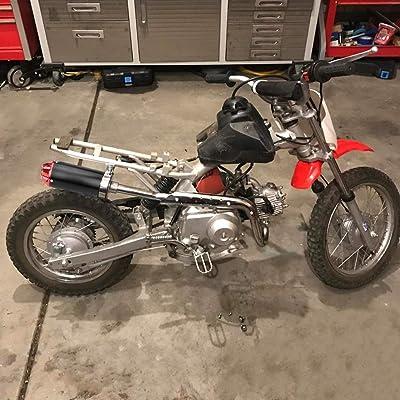 aluminum red 28mm motorcycle exhaust muffler for crf50 xr50 klx ssr thumpstar lifan 50cc 70cc 90cc 110cc 125cc chinese pit trail dirt bike