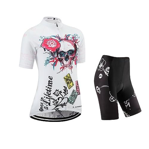 junglest Juego de camiseta y pantalones cortos de ciclismo, conjunto para ciclismo, Pecho 91