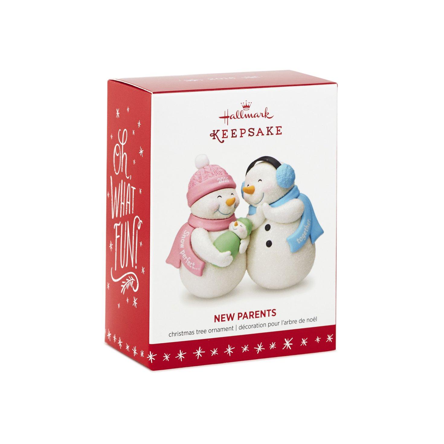 Amazon: New Parents Christmas Ornament Dated 2016 Hallmark Keepsake  Ornament: Home & Kitchen