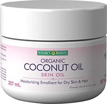 Nature's Bounty Coconut Oil, Moisturizing Embollient For Dry Skin and Hair,  207 ml