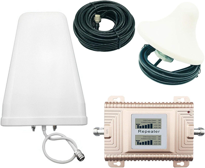 NuaDua Signal Booster, NuaDua GSM/DCS 900/1800MHz 2G/3G/4G Dual Band Dual LCD Display Mobile Phone Signal Booster Cell Phone Signal Repeater Signal Amplifier Set