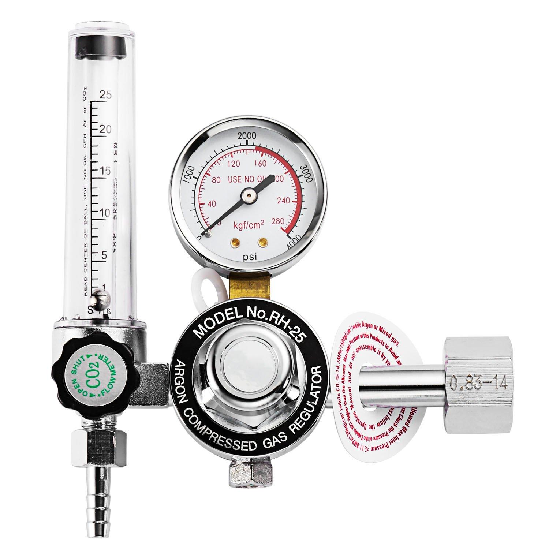 Gas Regulator CO2 Mig Mag Welder Welding Machine High Standard Copper Flow Meter Gauge Electric Gas Regulator For Mig Welder