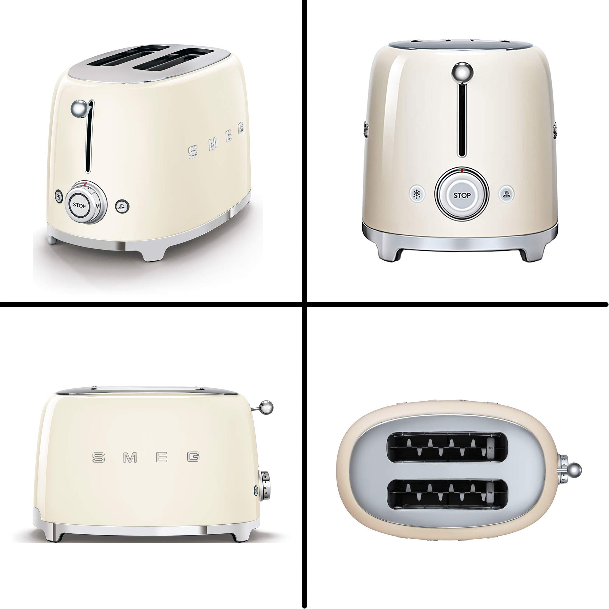 SMEG 2-Slice Toaster & 1.7-Liter Kettle in Cream by WhoIs Camera (Image #6)
