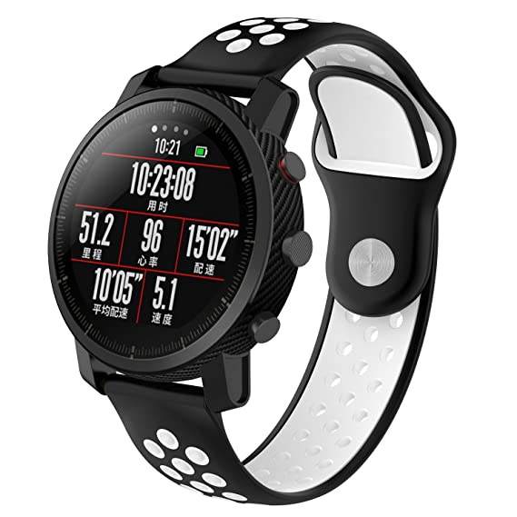 XIHAMA Band for Xiaomi Huami Amazfit Watch,22mm Quick Release Silicone Replacement Strap Sport Fitness