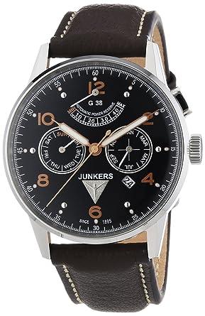 Junkers G 38 - Reloj de automático para hombre, con correa de cuero, color marrón: Amazon.es: Relojes