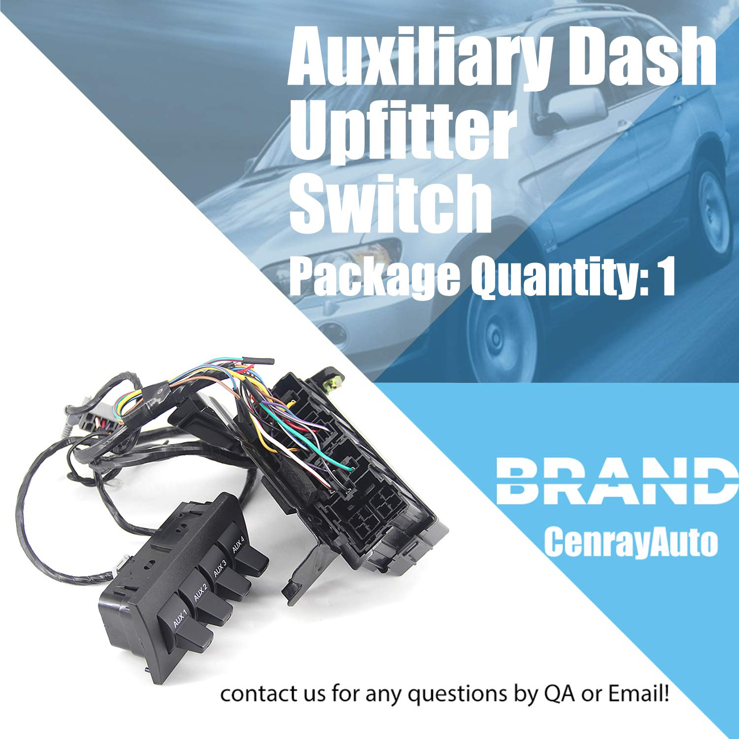 Auxiliary Dash Upfitter Switch Replacement for Ford F250 F350 F450 F550 Super Duty 2009-2016 Replace AL3Z13D730AA