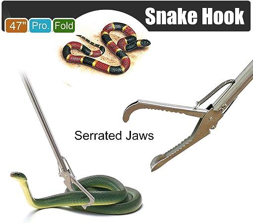 DEFY 36 Extra Heavy Duty Snake Tongs Reptile Grabber Rattle Snake Catcher Cobra Wide JAW Handling Tool