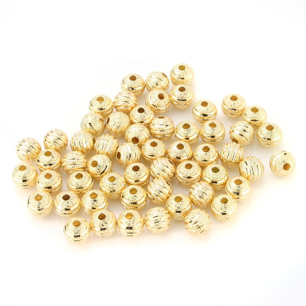 4mm Gold Filled Stardust Beads Sparkly! 10