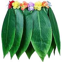 Toyvian Leaf Skirt Hawaiian Ti Leaf Hula Skirt Grass Belly Dance Skirt for Beach Party Wearing Decoration