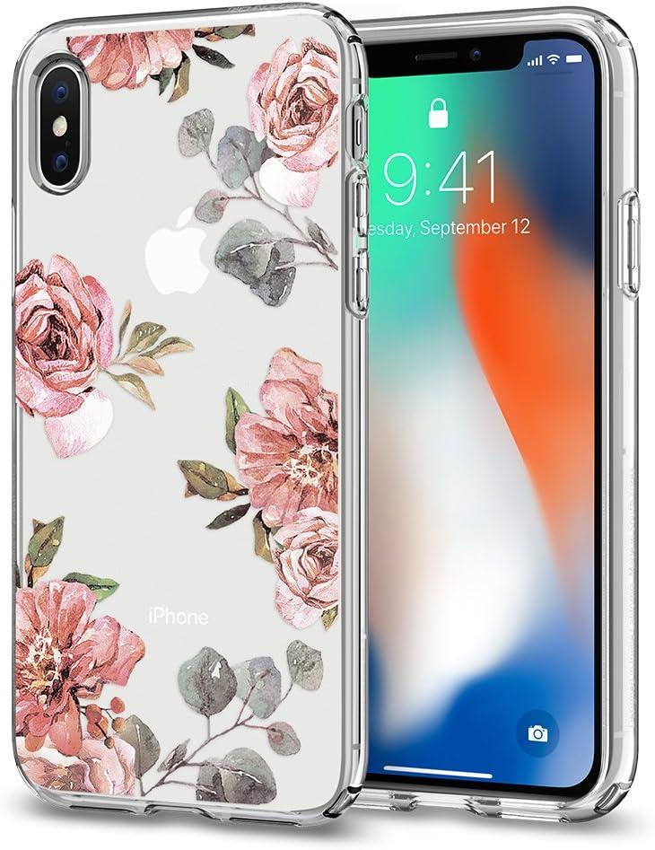 Spigen Liquid Crystal Designed for Apple iPhone Xs Case (2018) / Designed for Apple iPhone X Case (2017) - Blossom Flower