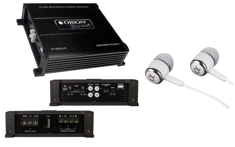 Orion ZT1200.2 ZTREET Series 2-Channel 1200W Max Class-AB Car Stereo Speaker Multi Channel Amplifier//Free ALPHASONIK Earbuds