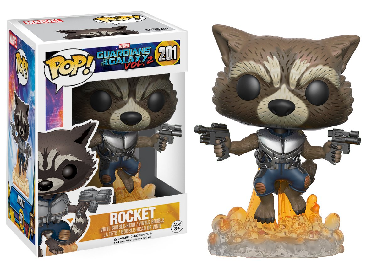 FUNKO POP! Movies: Guardians of The Galaxy Vol.2 - Rocket 13270 Accessory Toys & Games
