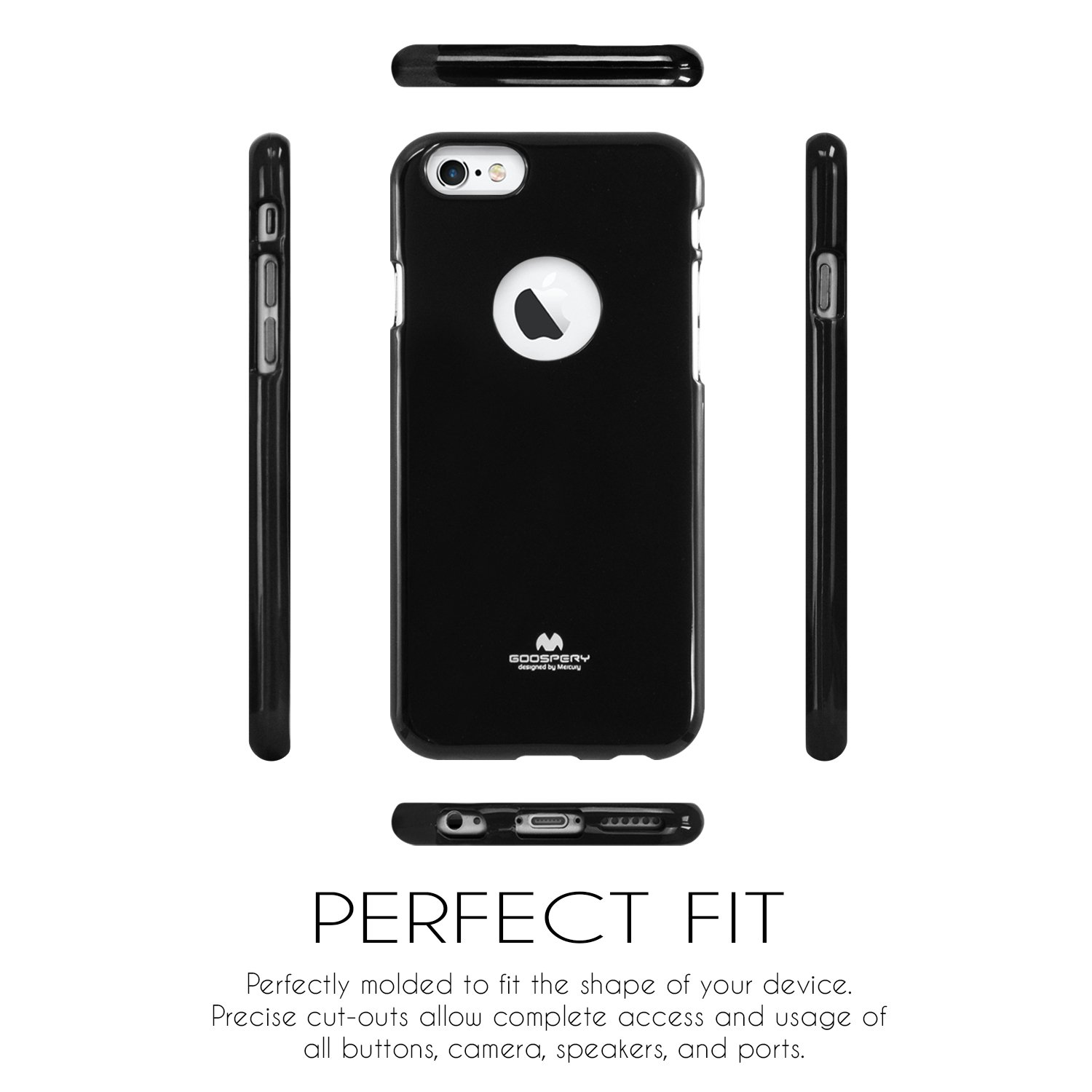 Iphone 6 Plus Case 6s Thin Slim Goospery Pearl Jelly Black Flexible Color Rubber Tpu Lightweight Bumper Cover