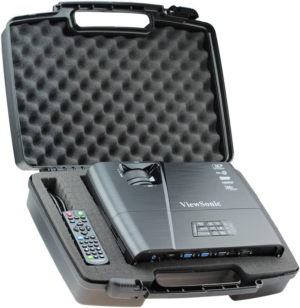 Skywin Portable Travel Hard Case for ViewSonic PJD5155 3300 Lumens SVGA HDMI Projector: Computers & Accessories