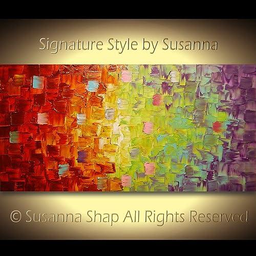 Amazon.com: Large ORIGINAL Art Ombre Colors Painting Palette Knife ...