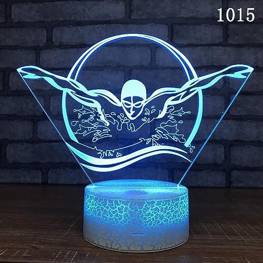 Lámpara explosiva de yoga 3D Explosión Lámpara de mesa de ...