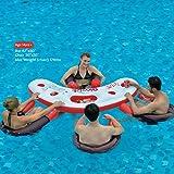 Ginzick Inflatable Floating Pool Bar Lounge