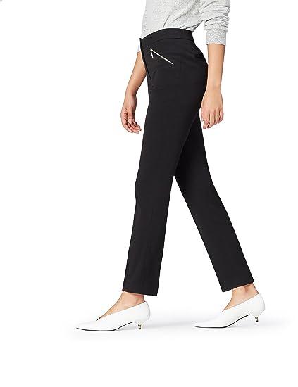 bacfe61a361b4 FIND Pantalon Coupe Slim Femme , Noir (Black), 38 (Taille Fabricant:  Small): Amazon.fr: Vêtements et accessoires